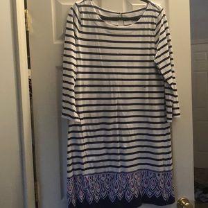 Lilly Pulitzer Strip White Dress XL